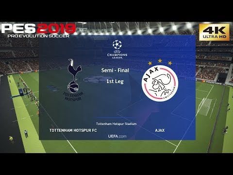 PES 2019 (PC) Tottenham vs Ajax | UEFA CHAMPIONS LEAGUE SEMI FINAL 1st LEG | 4K 60 FPS