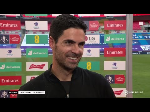 """""""I have to thank you, Pep."""" Mikel Arteta pays tribute to Pep Guardiola following FA Cup triumph"""
