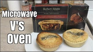 Herbert Adams Meat Pie Review - Microwave Versus Oven