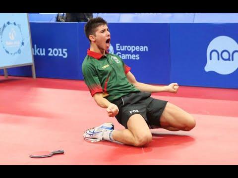 Ténis de Mesa - Portugal-França - Final Baku 15-06-2015 - 3º set 4º jogo