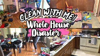 WHOLE HOUSE CLEAN WITH ME | ALL DAY DEEP CLEANING | MESSY HOUSE