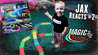 """Детская светящаяся дорога Magic Tracks (220 деталей + машинка) от компании Маркетплейс """"farm24"""" - видео"""