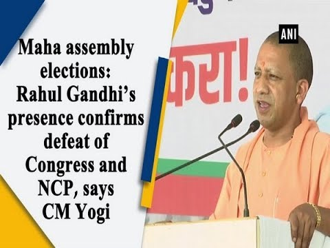 Maha assembly elections: Rahul Gandhi's presence confirms defeat of Congress and NCP, says CM Yogi