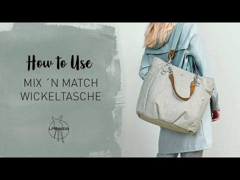Lässig Mix n Match Bag hoitolaukku, Denim Black