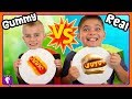 TINY GUMMY vs REAL! Who Wins The HobbyHeroes Challenge with HobbyKidsTV
