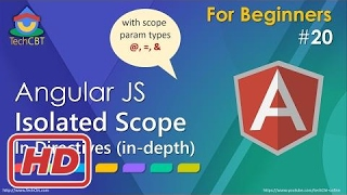 [Javascript Tutorial] AngularJs Tutorial: Isolated Scope In Directives (in-depth)