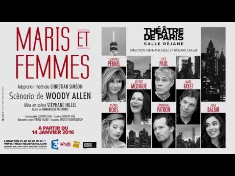 Maris et femmes au Théâtre de Paris : teaser