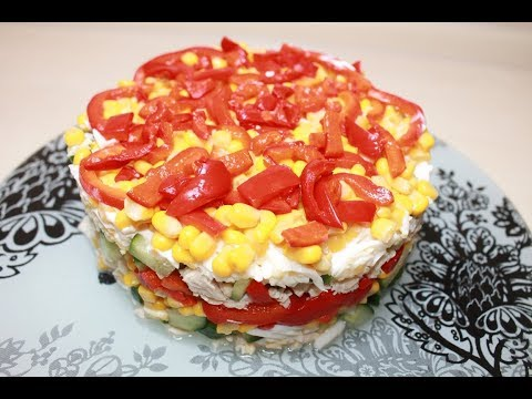 Яркий салат. Вкусный и простой рецепт салата