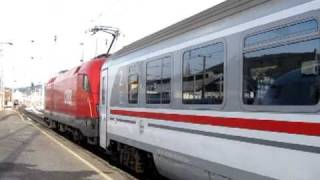 preview picture of video 'Eurocity 158 Croatia Zagreb - Wien hauled by ÖBB1116 at Graz Hbf'