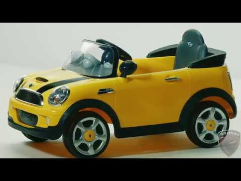 Rollplay 6V Mini Cooper Ride On Toy, Battery-Powered Kid's Ride On Car - Yellow