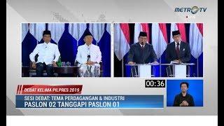 Debat Kelima Pilpres Part 3: Jokowi Nasehati Prabowo Soal Pajak