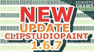 Clip studio paint update 1.6.7 changes