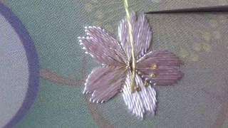 Japanese Embroidery 日本刺繍 - Cherry Blossom (Sakura) Knots Technique