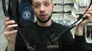 Трубка для плавания с двумя клапанами Cressi Sub Dry (Desert Dry) черная от компании МагазинCalipso dive shop - видео