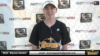 2022 Brynna Gestrin Outfield and Catcher Softball Skills Video - Esprit Fastpitch