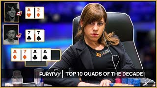 TOP 10 POKER QUADS HANDS OF THE DECADE!