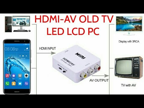 HDMI AV How To Connect Smartphone To OLD TV LED TV HDTV