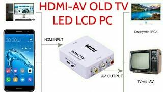 HDMIAVHowToConnectSmartphoneToOLDTVLEDTVHDTV
