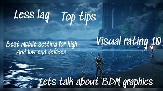 Black Desert Mobile Graphic settings for high and low end devices top tips