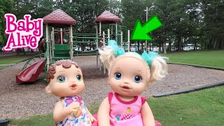 BABY ALIVE Abby And Pumpkin Go To The Park baby alive videos