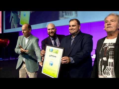 GREEN BRANDS Germany 2019 Předání certifikátu značce proWIN