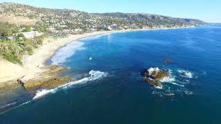 Laguna Beach - Main Beach Drone Aerial View - Orange County, California - DJI Phantom November 2016