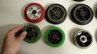 Типы колес экстремального самоката