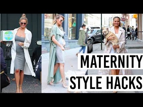 PREGNANCY HACKS | MOM STYLE | How to avoid maternity clothes!