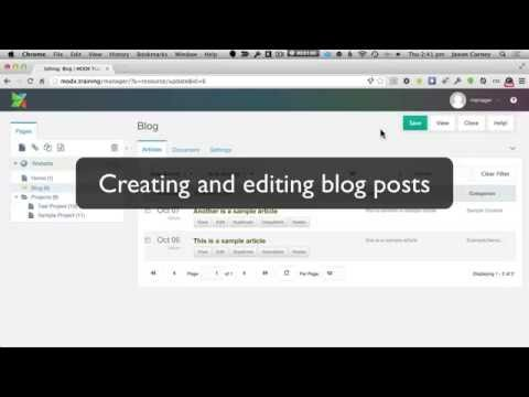 Creating and Editing Blog Articles