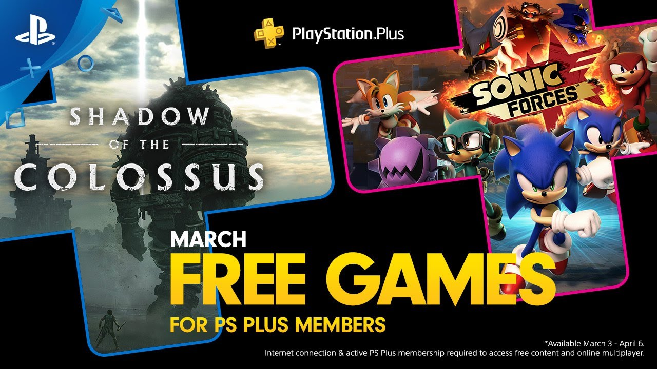 March's Free PS Plus Games: Shadow of the Colossus and Sonic Forces