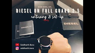 DIESEL ON FULL GUARD 2.5 | Smartwatch | Unboxing | Set up | Wear OS by Google | Connecting to iOS