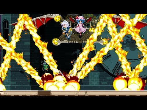 Touhou Luna Nights - All Bosses (No Damage / No time Stop / No Time slow / No Abilities)