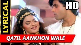 Qatil Aankhon Wale With Lyrics | Alisha Chinai | Hum Hain