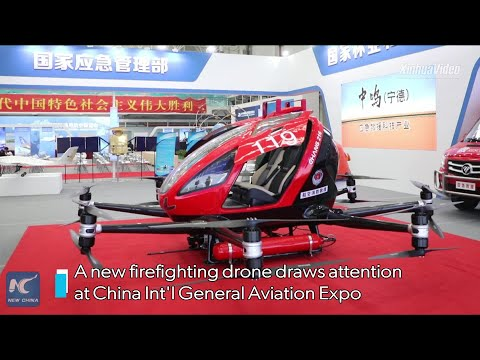 Firefighting drone draws attention at China aviation expo