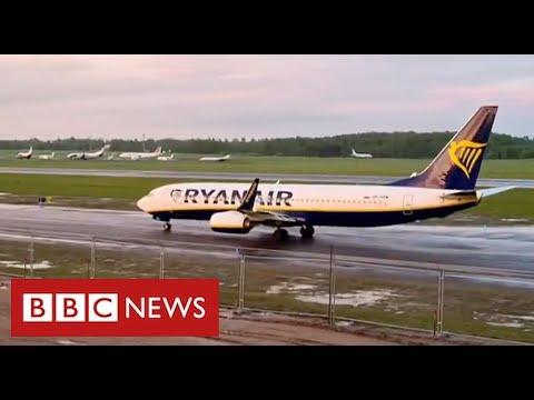 "Sanctions on Belarus after ""state-sponsored hijacking"" of Ryanair flight - BBC News"