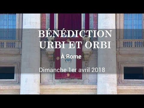 Bénédiction Urbi et Orbi depuis Saint-Pierre de Rome