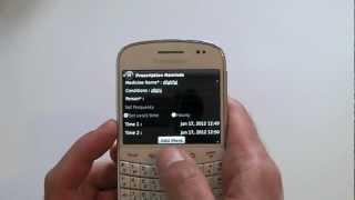 Medication Reminder For BlackBerry Smartphones
