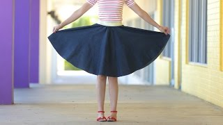 How To Make A Circle Skirt - For Any Age + Any Size