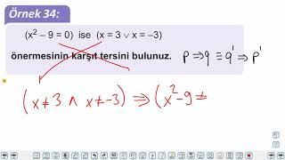 Eğitim Vadisi 9.Sınıf Matematik 3.Föy Mantık 3 Konu Anlatım Videoları