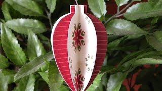 DIY: Christmas paper ball #2 - Bola de navidad #2