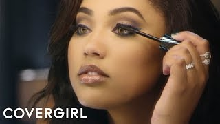 Ayesha Curry in Peacock Flare Mascara | #IAmWhatIMakeUp by COVERGIRL
