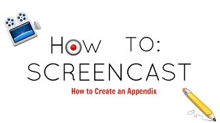How to Create an Appendix