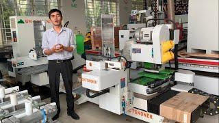 GIỚI THIỆU   MÁY LÀM MỘNG 2 ĐẦU CNC   WM-D200CNC   Woodmaster Vietnam