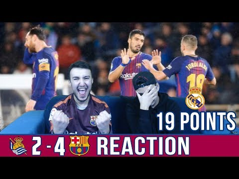 BARCA BREAKS THE ANOETA CURSE !! | SOCIEDAD 2-4 BARCA | REACTION