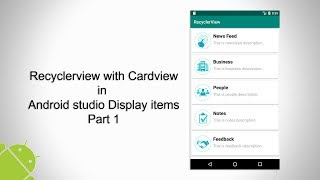 penerapan cardview recyclerview dan volley di android studio