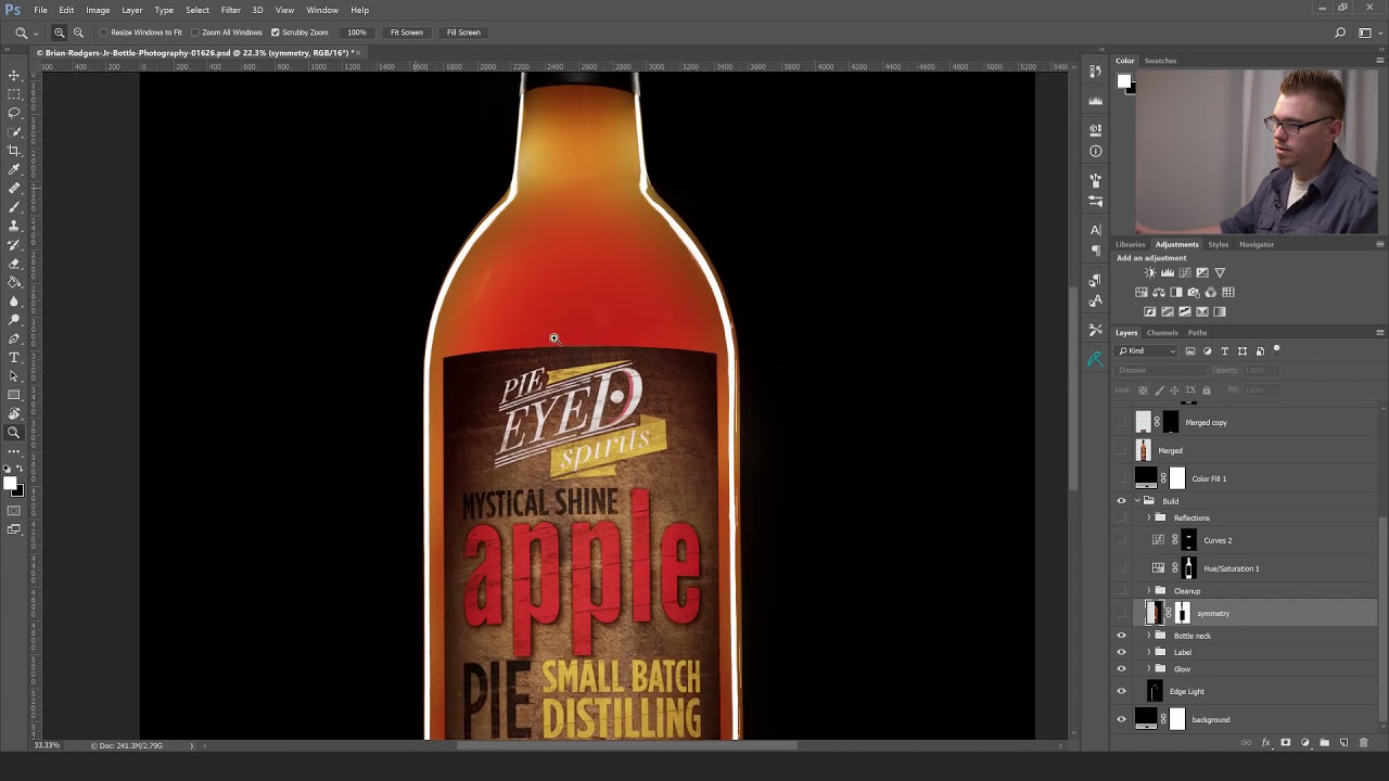 composite a commercial beverage image in photoshop by fstoppers
