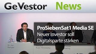 ProSiebenSat1 Media SE: Neuer Investor soll Digitalsparte stärken