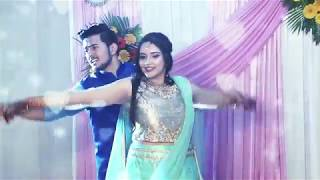 SANGEET COUPLE DANCE on Nazm, Nachdene saare, Aajkal tere mere pyaar ke, Mehendi lagake, Bring it on