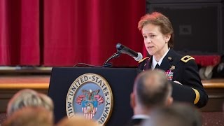 Gen. Diana Holland becomes first female West Point commandant