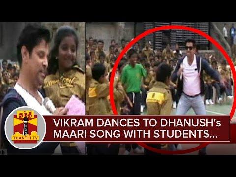 Vikram-dances-to-Dhanushs-Maari-Song-with-Students-at-Yercaud-Montfort-School--Thanthi-TV